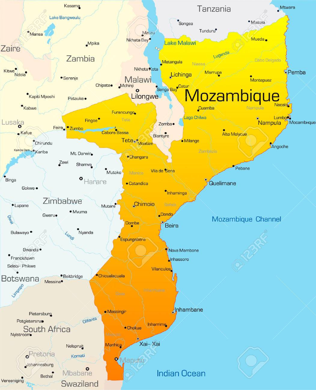 News) MOZAMBIQUE- Moderate risk of storm formation in the Mozambique on
